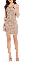 Marina Beaded Cowlneck Beaded Dress