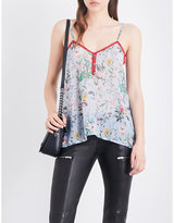 The Kooples Floral silk-chiffon camisole
