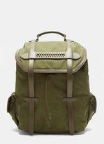 Stella McCartney Falabella Waxed Canvas Backpack in Khaki