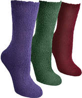 Muk Luks Crew Aloe Socks (3 Pair) (Women's)