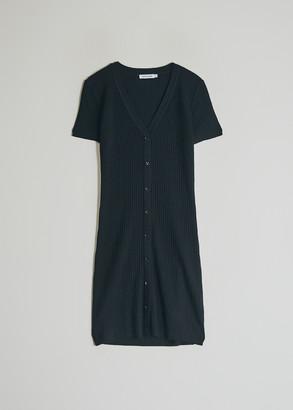 Stelen Women's Elina Ribbed Knit Dress in Black, Size Small