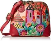 Anuschka Anna By Anna by Women's Genuine Leather Small Zip-Around Handbag | Multi Compartment Organizer |Village of Dreams