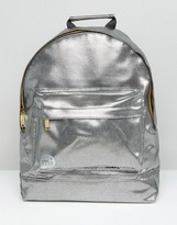 Mi-Pac Pebbled Silver Backpack