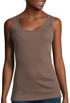 ST. JOHN'S BAY St. John's Bay Embellished Cotton Tank Top