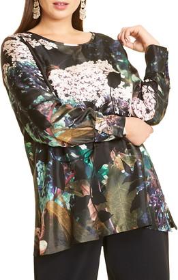 Marina Rinaldi Bahamas Silk Twill Tunic