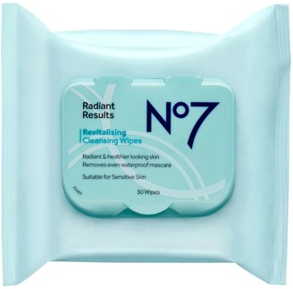 No7 No. 7 Radiant Results Revitalising Cleansing Wipes Value Pack