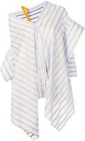 Palmer Harding Palmer / Harding striped asymmetric shirt