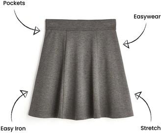 Very Girls 2 Pack Jersey School Skater Skirts - Grey