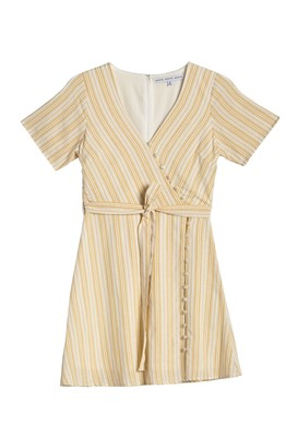 Hyfve Short Sleeve Stripe Waist Tie Dress