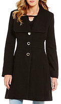 Jessica Simpson Wool Single Breasted Tabbed Waist Walker Coat