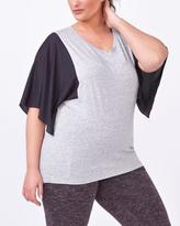 Penningtons Athleisure - Mesh Sleeve Plus-Size T-Shirt