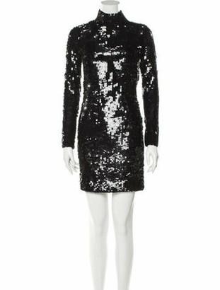 HANEY Turtleneck Mini Dress w/ Tags Black