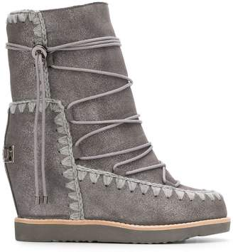 Mou lace-up snow boots