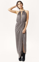 Sueded Halter Gown
