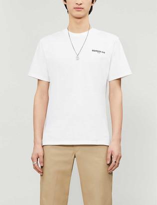 The Kooples Backward logo cotton-jersey T-shirt
