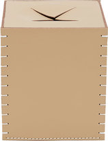 Arte & Cuoio Leather Boutique Tissue Box Cover-NUDE