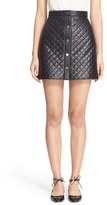 ADAM by Adam Lippes Women's Quilted Lambskin Leather Miniskirt