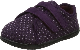 Padders Duo Wide 2E/ 3E Fitting Womens Memory Foam Slippers - Purple - UK4