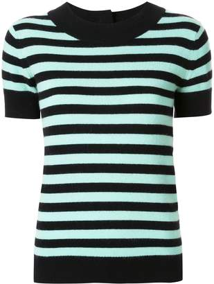 Chanel Pre-Owned cashmere striped knitted top