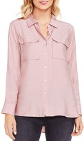 Vince Camuto Textured Utility Blouse