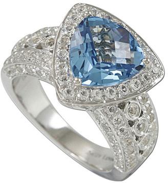 Suzy Levian Diamonds Suzy Levian Silver 5.65 Ct. Tw. Diamond & Topaz Ring
