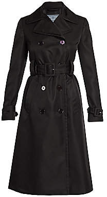 Prada Women's Double Breasted Trench Coat