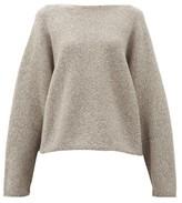 LAUREN MANOOGIAN Boat-neck Alpaca-blend Sweater - Womens - Grey