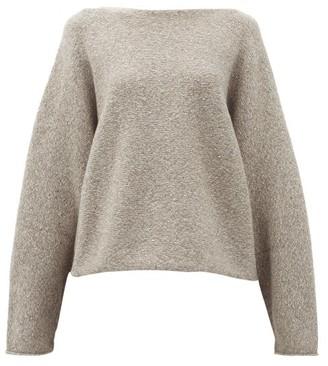 LAUREN MANOOGIAN Boat-neck Alpaca-blend Sweater - Grey