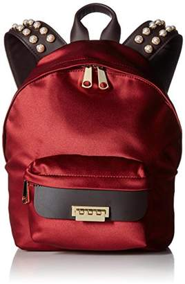 Zac Posen Eartha Iconic Small Backpack-Satin and Pearls