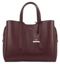 BOSS Soft tote bag in grainy Italian leather