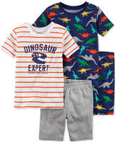 Carter's 4-Pc. Dinosaur Expert Cotton Pajama Set, Little Boys & Big Boys