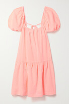 Thumbnail for your product : HONORINE Elodie Cotton-gauze Mini Dress - Pink