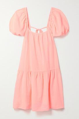 HONORINE Elodie Cotton-gauze Mini Dress - Pink