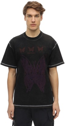Butterfly Acid Cotton Jersey T-Shirt