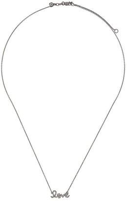 Sydney Evan 14kt Black Gold Diamond Love Necklace