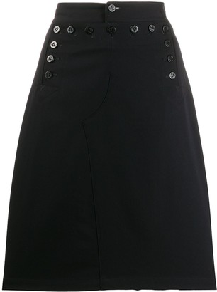 Junya Watanabe Comme Des Garçons Pre Owned 1990s Buttoned Skirt