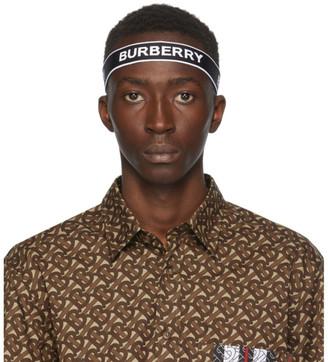 Burberry Black and White Logo Headband