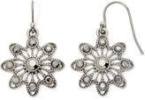 Liz Claiborne Marcasite Sunburst Drop Earrings