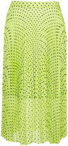 Markus Lupfer polka dot pleat skirt