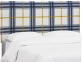 One Kings Lane Macy Headboard - Blue/Yellow Linen - twin