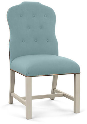 Bunny Williams Home Jack Side Chair - Blue Linen