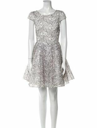 Alice + Olivia Lace Pattern Mini Dress w/ Tags White