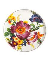 Mackenzie Childs MacKenzie-Childs White Flower Market Round Tray