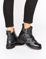Park Lane Chunky Buckle Flat Boot