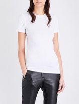 Brunello Cucinelli Chain-trim short-sleeved jersey top