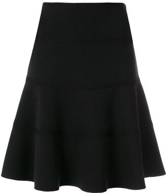 Alaia Pre-Owned skate lace detail skirt