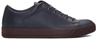 Lanvin Navy Leather Sneakers