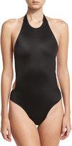 Norma Kamali Sister Chuck Cutout-Back One-Piece Swimsuit, Black