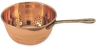 One Kings Lane Hanging Colander w/Handle - Copper - copper/brass