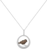 Cubic Zirconia & Sterling Silver Bird Pendant Necklace